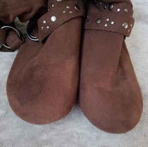 Forever Shoes - Forever brown peasant style boots. Size 7